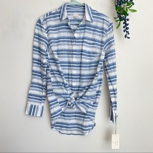 Striped button down shirt size small NWT